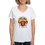 Temudo Family Crest Women's V-Neck T-Shirt