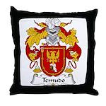 Temudo Family Crest Throw Pillow