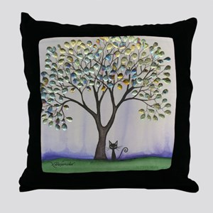 Prescott Stray Cat Throw Pillow