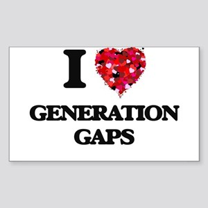 I love Generation Gaps Sticker