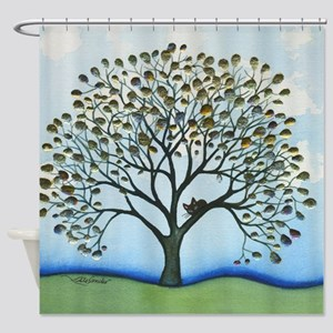 Cairo Stray Cat In Tree Shower Curtain