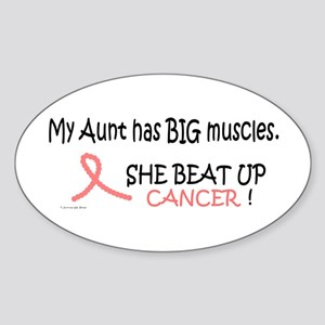 My Aunt Has Big Muscles 1 Oval Sticker