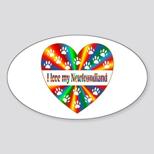 Newfoundland Love Sticker (Oval)