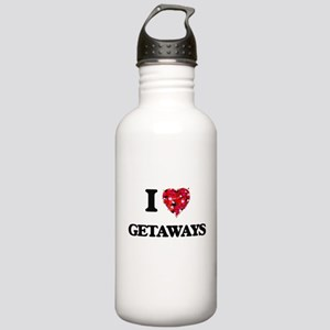 I love Getaways Stainless Water Bottle 1.0L