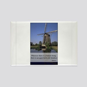 Windmill - Human Kindness Rectangle Magnet