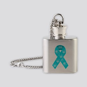 Sexual Assault Ribbon Flask Necklace