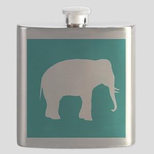 Turquoise Elephant Flask