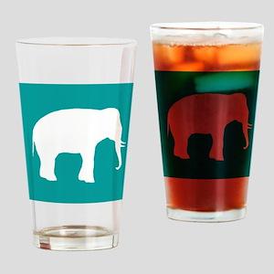Turquoise Elephant Drinking Glass