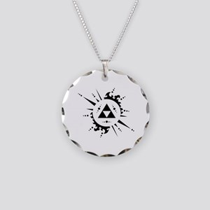 trifuerza Necklace Circle Charm