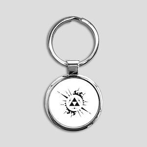 trifuerza Round Keychain