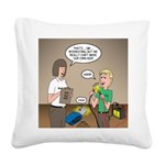 CPR Training Square Canvas Pillow