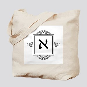 Aleph Hebrew monogram Tote Bag