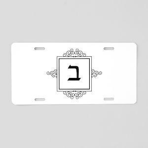Bet Hebrew monogram Aluminum License Plate