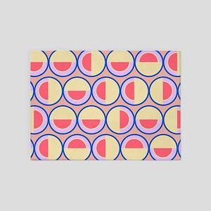 Circles and semicircles 5'x7'Area Rug