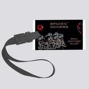 X zombie robots Large Luggage Tag