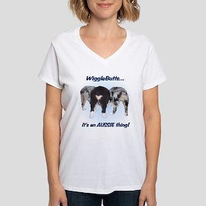 Wigglebutts Women's V-Neck T-Shirt