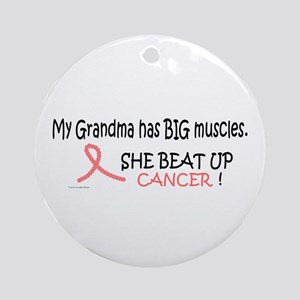My Grandma Has Big Muscles 1 Ornament (Round)