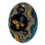 fractal cocoon Ornament (Oval)