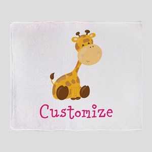 Custom Baby Giraffe Throw Blanket