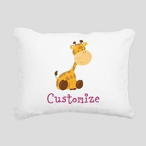 Custom Baby Giraffe Rectangular Canvas Pillow