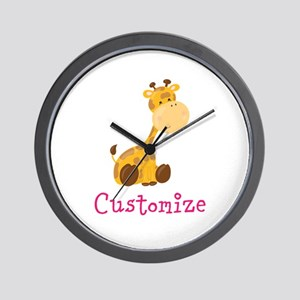 Custom Baby Giraffe Wall Clock