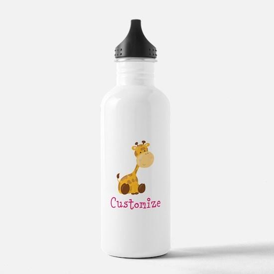 Custom Baby Giraffe Water Bottle