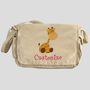 Custom Baby Giraffe Messenger Bag
