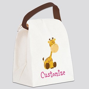 Custom Baby Giraffe Canvas Lunch Bag