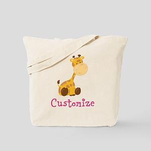 Custom Baby Giraffe Tote Bag