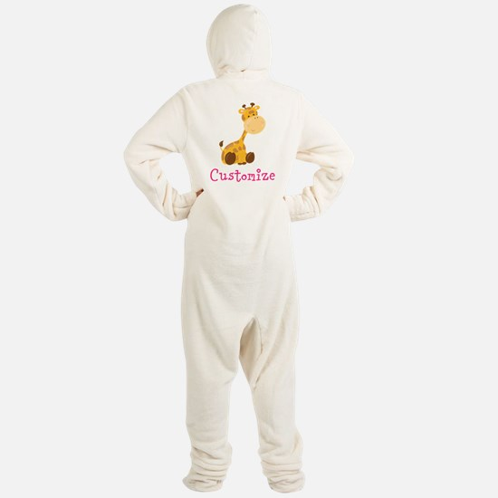 Custom Baby Giraffe Footed Pajamas