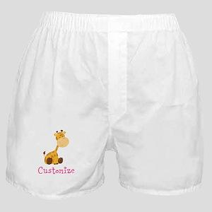 Custom Baby Giraffe Boxer Shorts