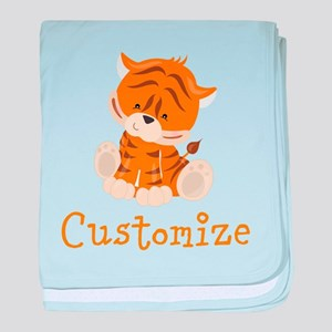 Custom Baby Tiger baby blanket
