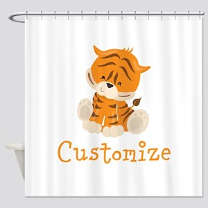 Custom Baby Tiger Shower Curtain