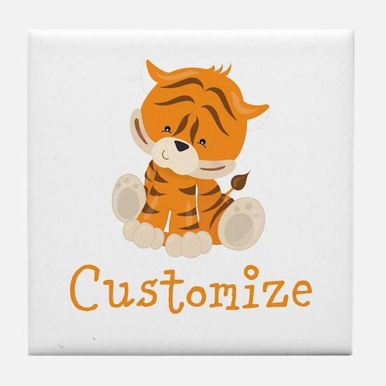 Custom Baby Tiger Tile Coaster