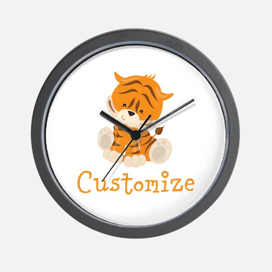 Custom Baby Tiger Wall Clock