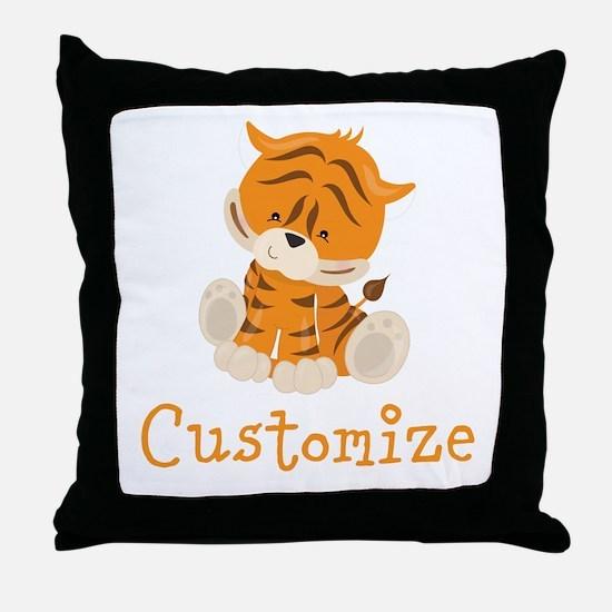 Custom Baby Tiger Throw Pillow