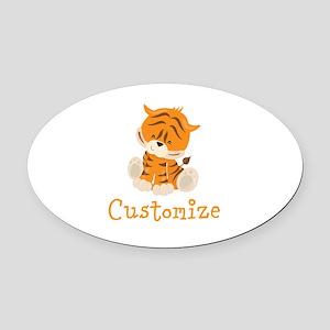 Custom Baby Tiger Oval Car Magnet