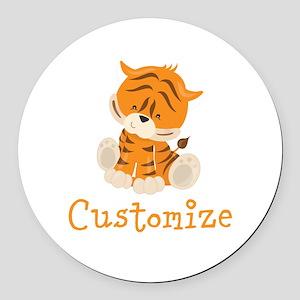 Custom Baby Tiger Round Car Magnet