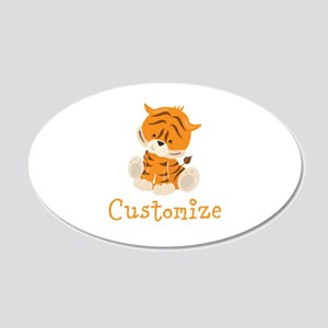 Custom Baby Tiger 20x12 Oval Wall Decal