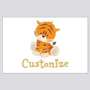 Custom Baby Tiger Large Poster