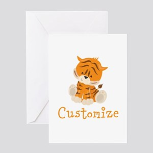 Custom Baby Tiger Greeting Card