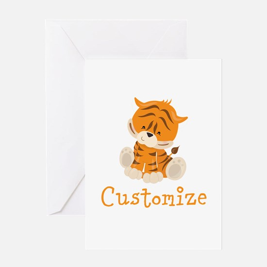 Custom Baby Tiger Greeting Card