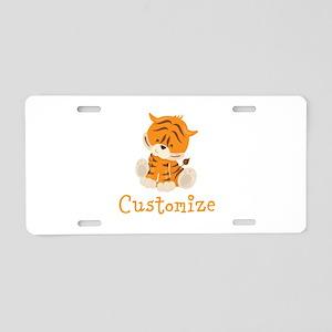 Custom Baby Tiger Aluminum License Plate