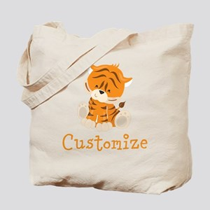 Custom Baby Tiger Tote Bag