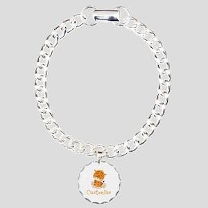 Custom Baby Tiger Charm Bracelet, One Charm