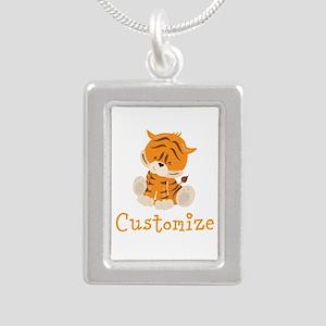 Custom Baby Tiger Silver Portrait Necklace