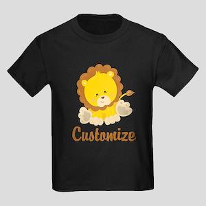 Custom Baby Lion Kids Dark T-Shirt