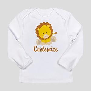Custom Baby Lion Long Sleeve Infant T-Shirt