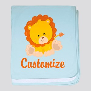 Custom Baby Lion baby blanket