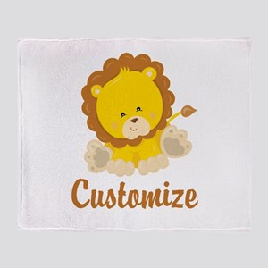 Custom Baby Lion Throw Blanket